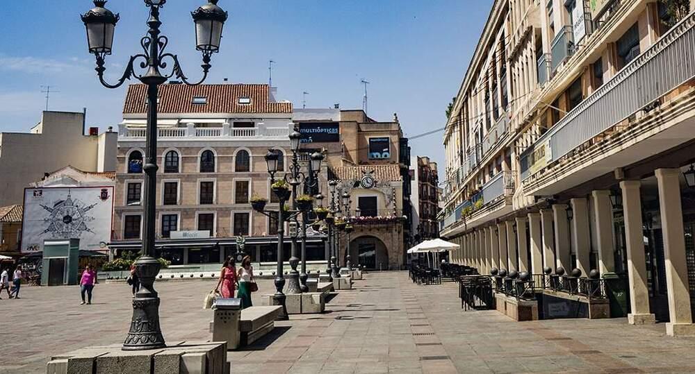 El doble arco de la plaza Mayor