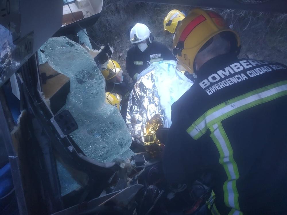 Accidente múltiple en Piedrabuena con 12 heridos, 4 graves