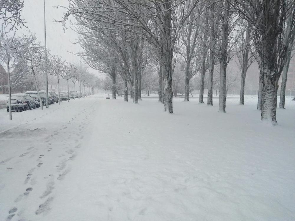 Burgos amanece con una copiosa nevada