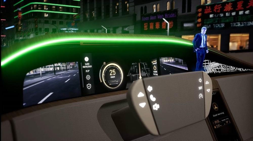 Interior del Concept Car en el que Grupo Antolín muestra sus proyectos de innovación para el interior del automóvil.