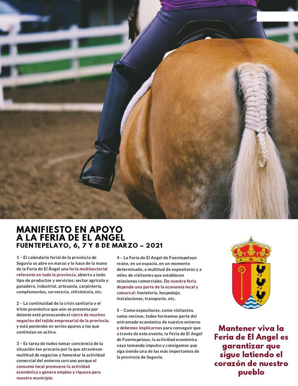 Manifiesto En Apoyo A La Feria Del ángel De Fuentepelayo Noticias El Día De Segovia