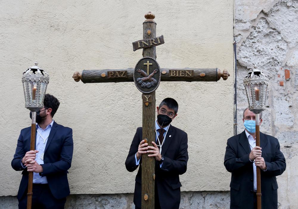 La Cofradía de la Sagrada Pasión de Cristo de Valladolid celebra la primera procesión en la ciudad desde el inicio de la pandemia
