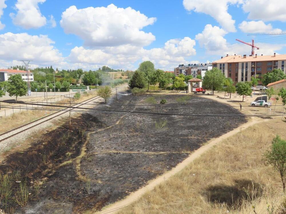Un incendio devora cerca de 3.000 m2 en San Antón