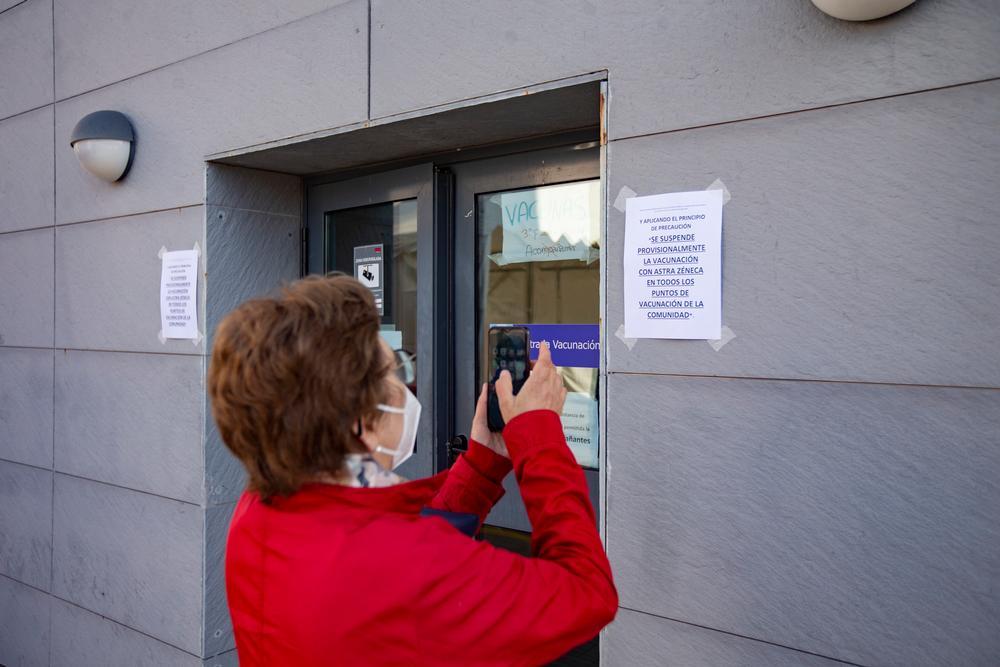 Suspendida la vacunación de AstraZeneca en el Hospital Provincial.