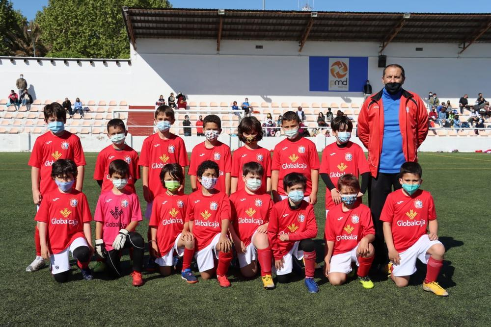 Equipo benjamín de la Escuela Federada de Fútbol Base de Ciudad Real.