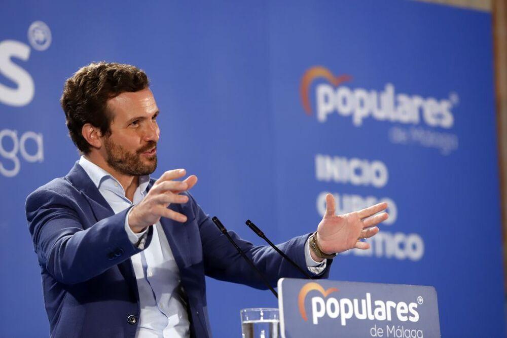 El presidente del PP, Pablo Casado, en el acto de inicio de curso político del PP andaluz.