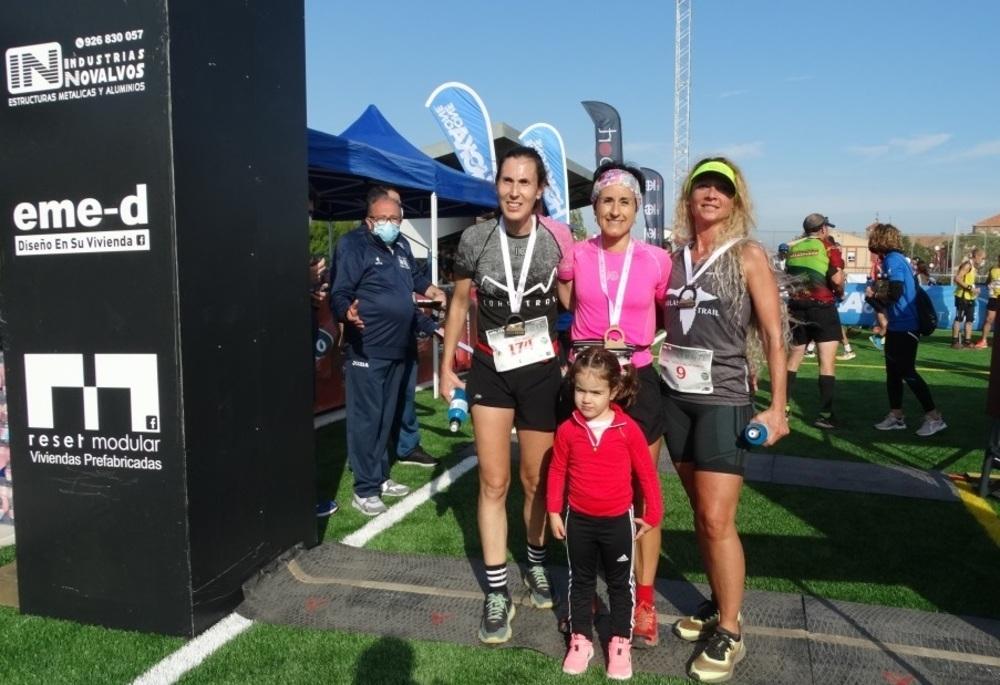 Podio femenino de la prueba de 16 kilómetros.