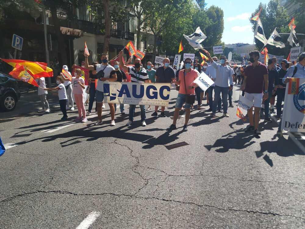 Imagen de guardias civiles de Ciudad Real en la manifestación