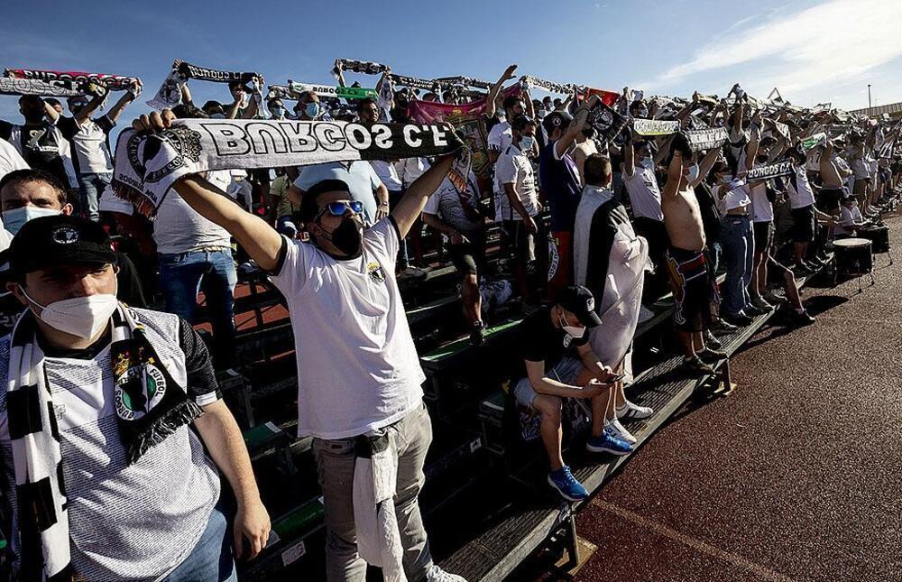 Aficionados del Burgos en el partido que los de Calero disputaron el sábado contra el Calahorra.
