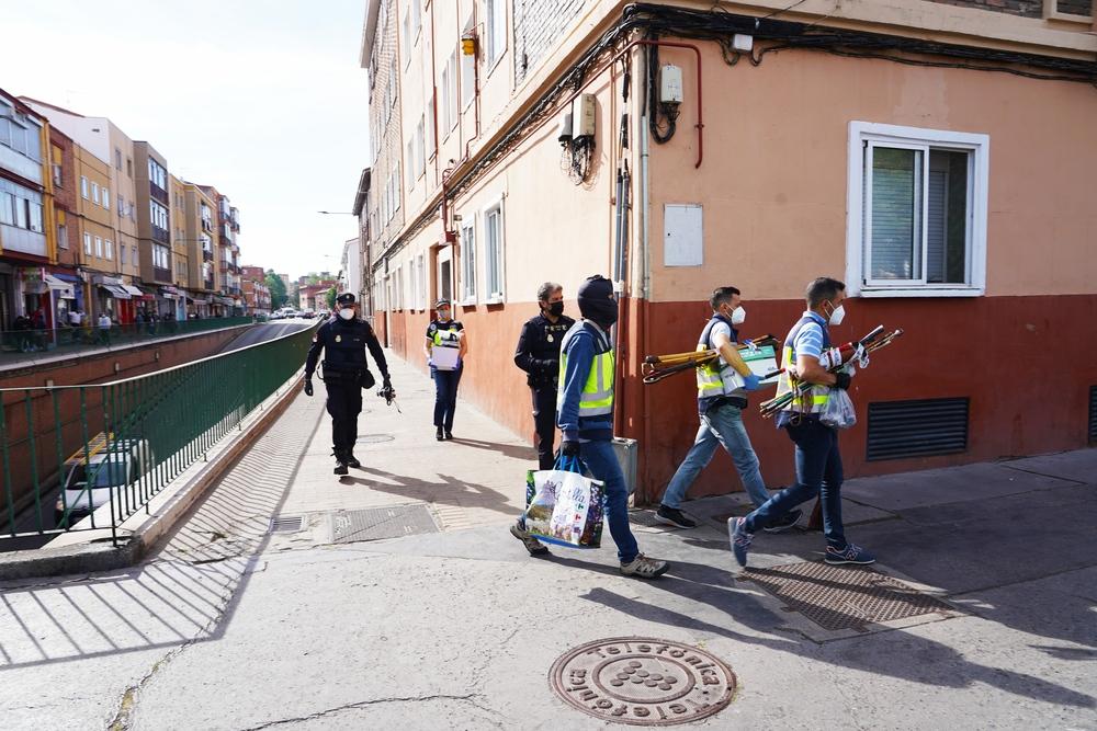 Operación policial en la calle Pavo Real de Valladolid