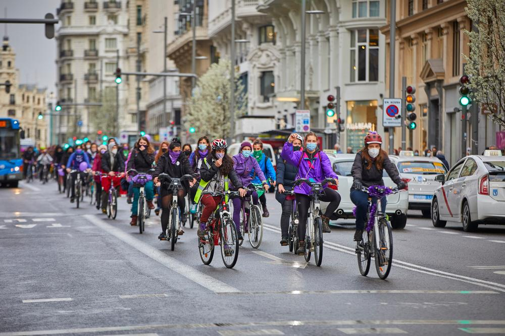 8M 2021. Acto simbólico del Movimiento Feminista de Madrid