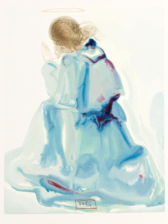 Una de las láminas limitadas editadas a partir de acuarelas de Dalí y donadas por Cañada.