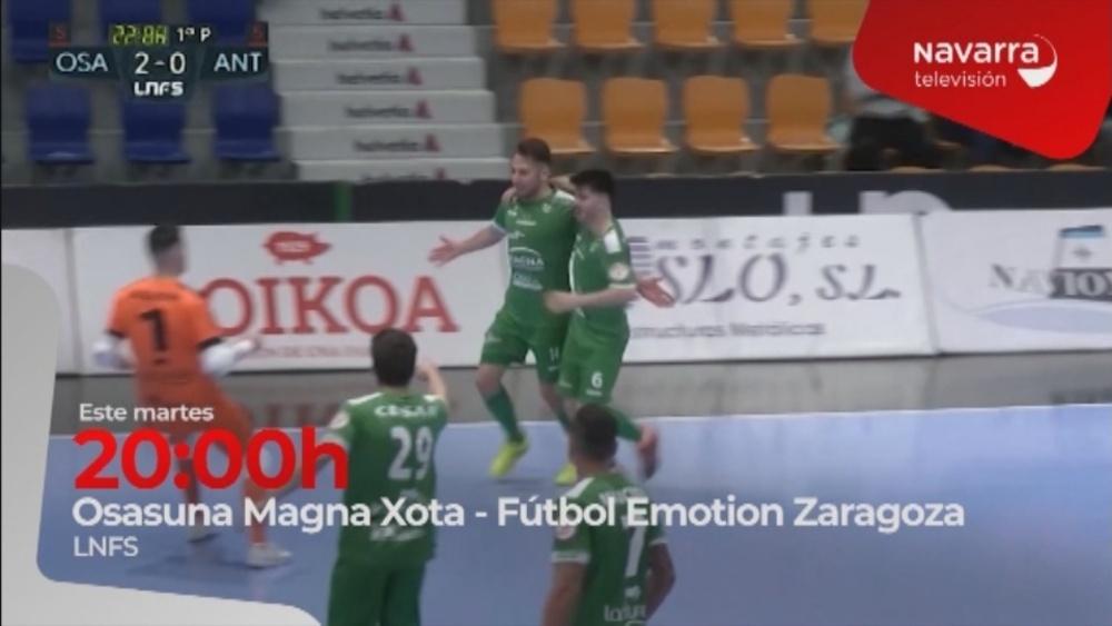 Osasuna Magna- Zaragoza, en directo, en Navarra Televisión