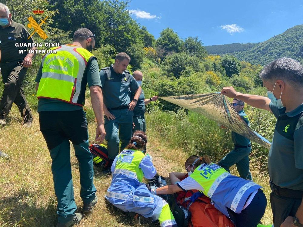 Así se rescató en helicóptero al senderista de Ezcaray