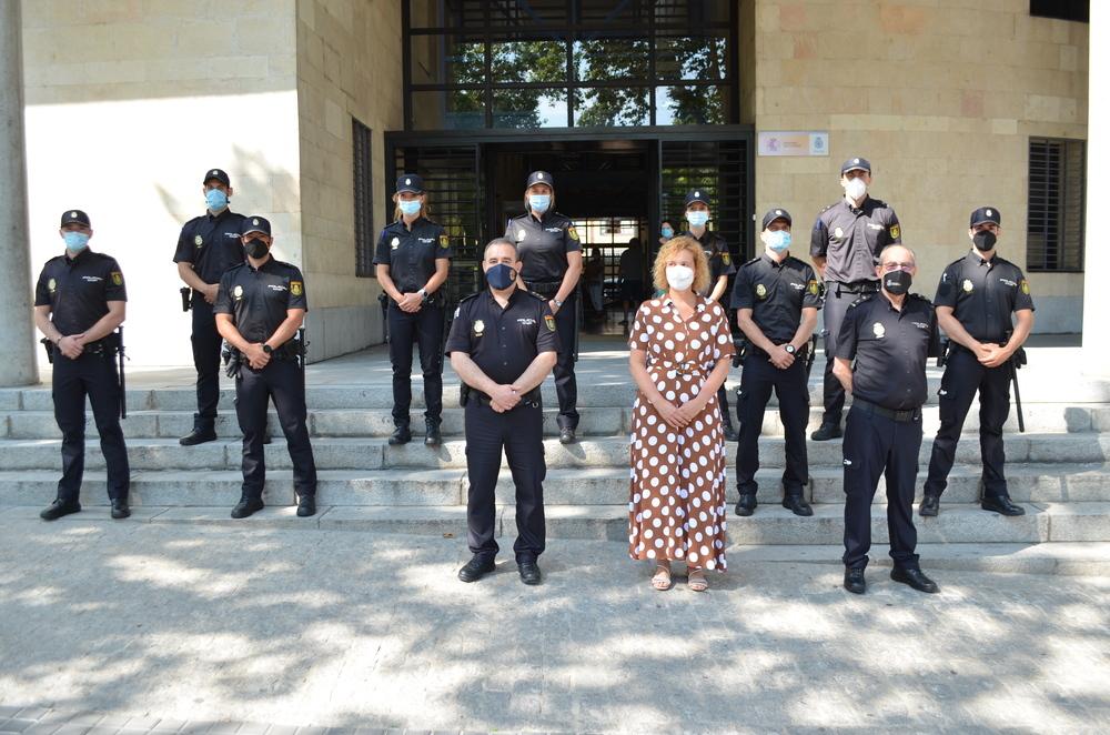 La Comisaría de Segovia recibe nueve alumnos en prácticas