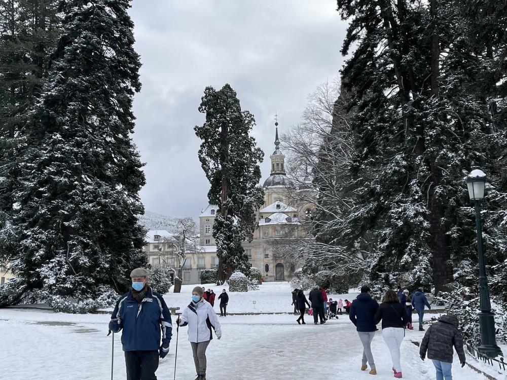 Turismo de invierno en el Real Sitio de San Ildefonso