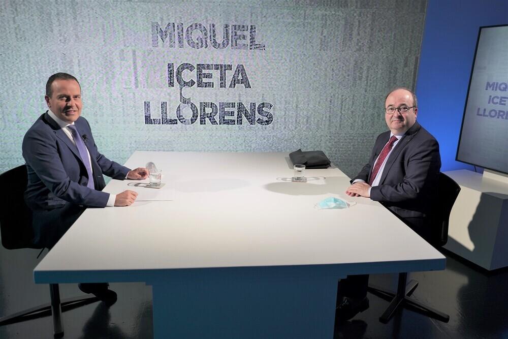 Miquel Iceta 'cara a cara' en Navarra Televisión