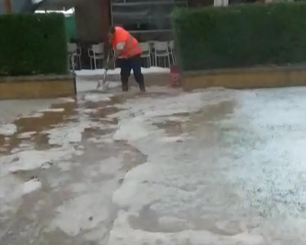 La tormenta provoca inundaciones en Bayubas de Abajo