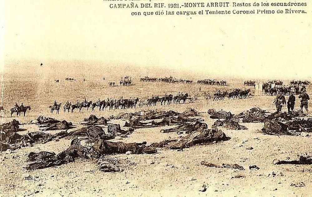 Jefe del Regimiento 'Alcántara' en su heroico sacrificio en Annual