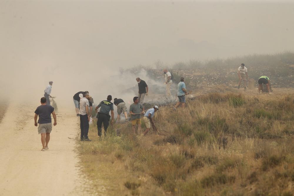 El incendio de la Sierra de la Paramera afecta a varios municipios.