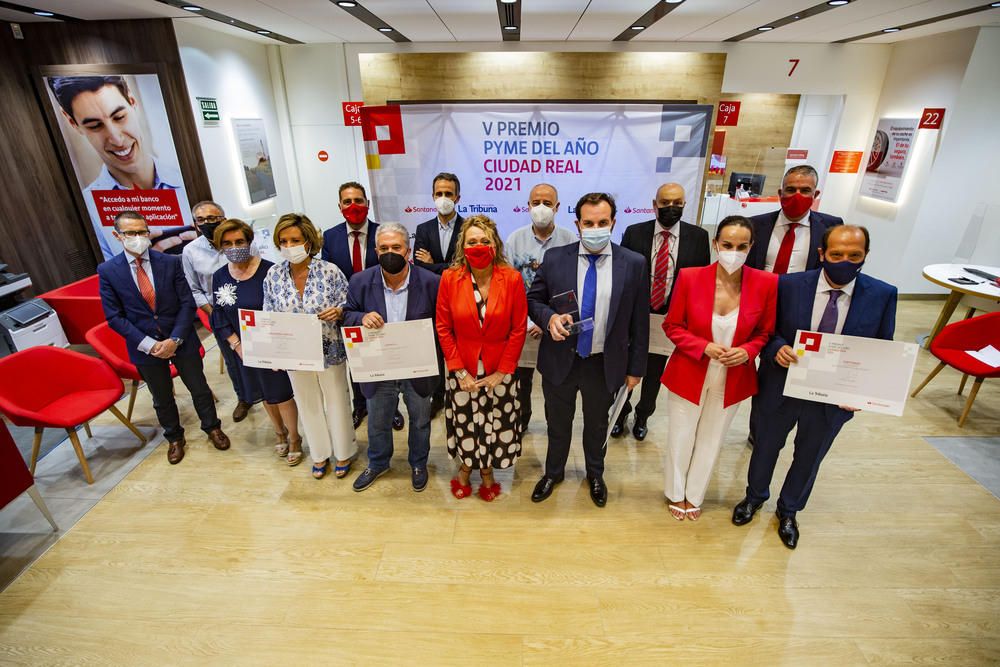 entrega de los V Premios PYME de año en Ciudad Real, patrocinados por el Banco Santander y La Tribuna de Ciudad Real, empresarios