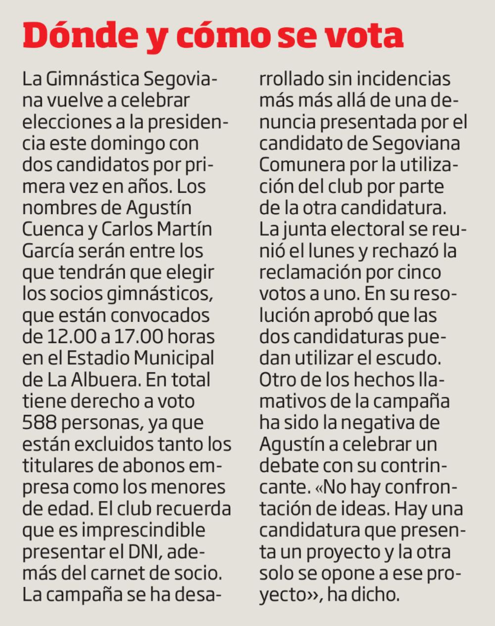 La Segoviana decide su futuro
