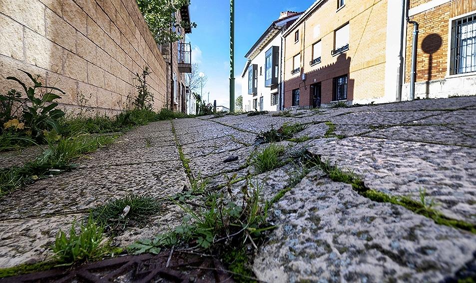 Aceras rotas. Los barrios consideran que se necesitan partidas para renovar periódicamente el pavimento y evitar que avance su deterioro.