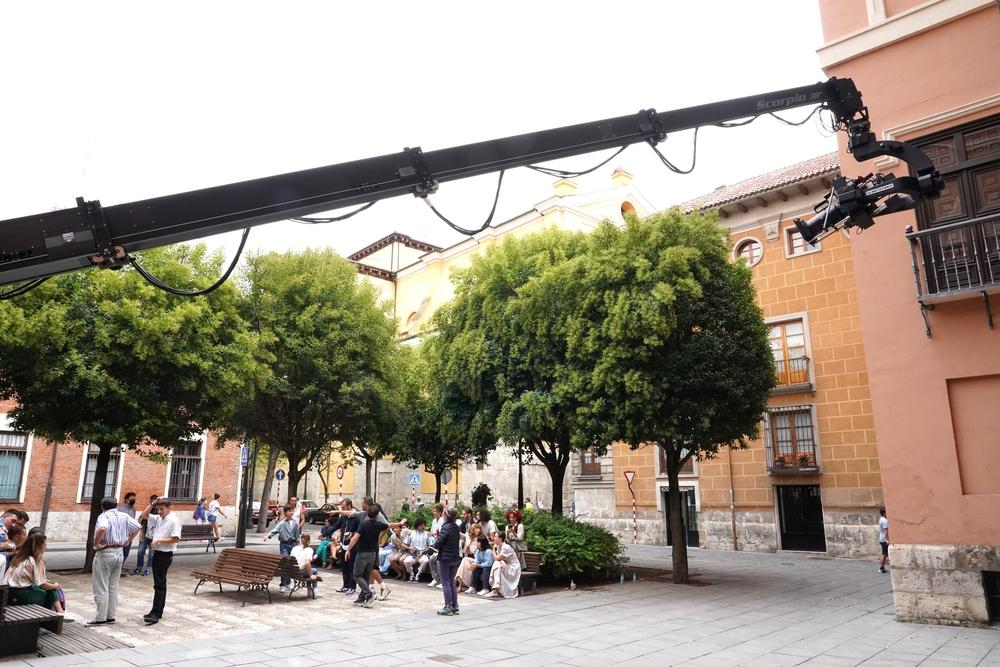 Rodaje de la película 'Voy a pasármelo bien' en Valladolid