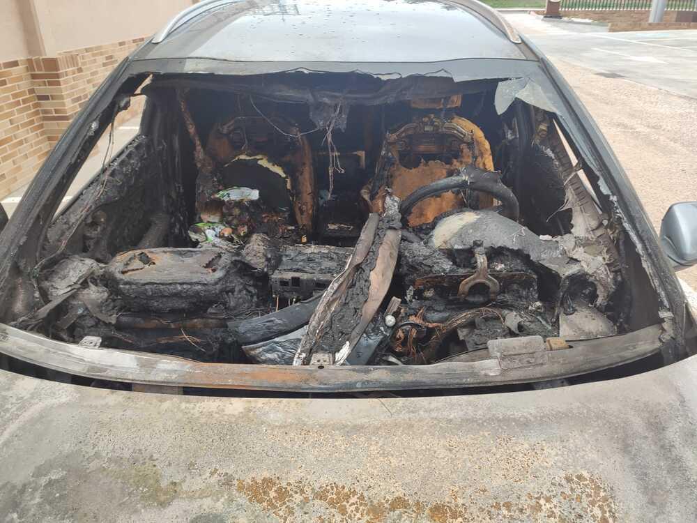 Estado en el que quedó el vehículo siniestrado.
