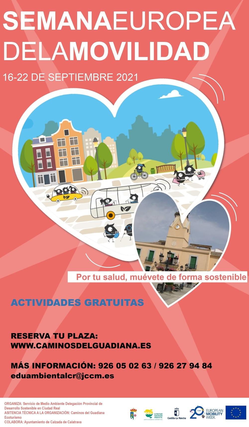 Calzada, centro de actividades de la semana de la movilidad
