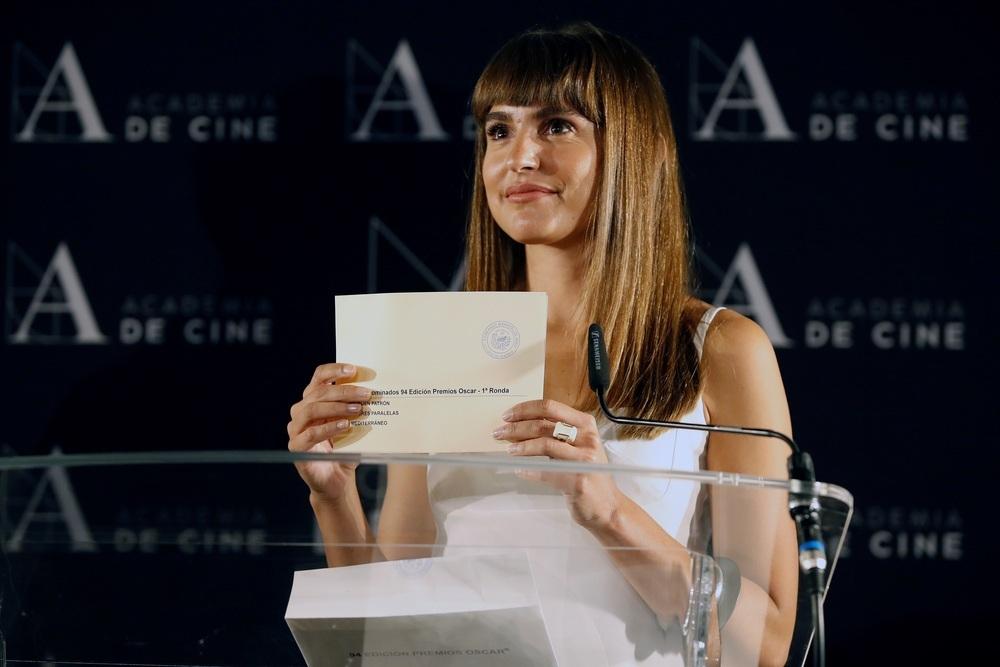 La actriz Verónica Echegui realiza la lectura de las tres películas preseleccionadas para representar a nuestro país en la próxima edición de los Óscar