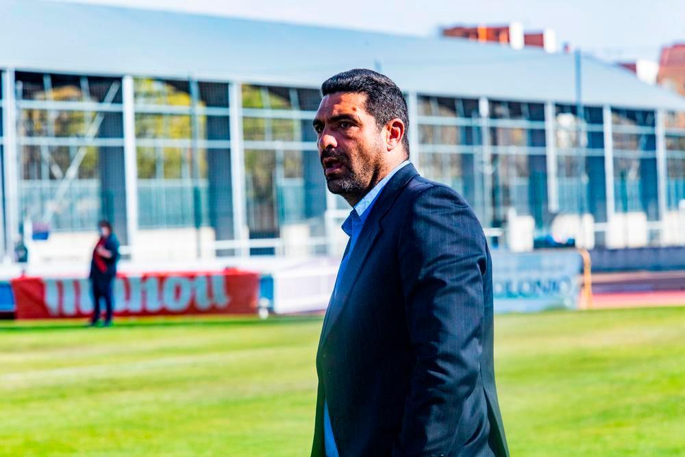 Míchel Carrilero, entrenador del CD Manchego.