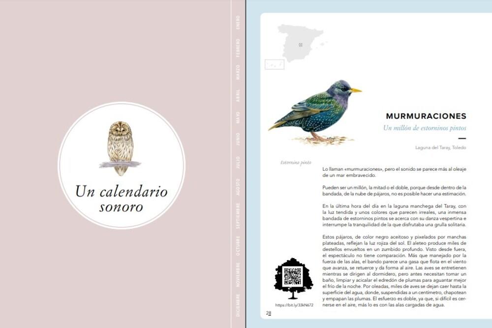 Páginas interiores del libro Los sonidos del bosque