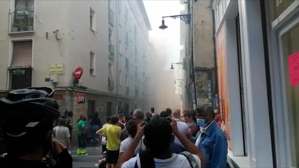 Incendio en pleno Casco Viejo de Pamplona