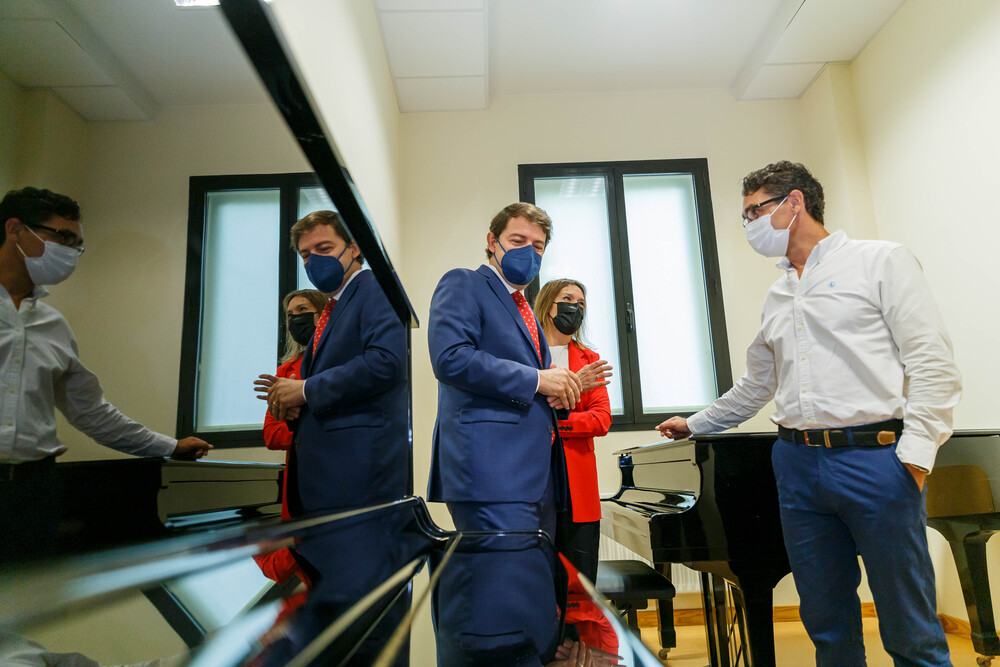 El presidente de la Junta inaugura el curso 2021-2022de las enseñanzas escolares no universitariasde Castilla y León