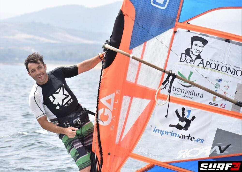 Eduardo Navarro, durante la prueba.