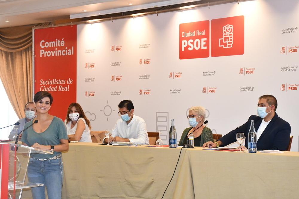 La ministra Isabel Rodríguez, durante su intervención.