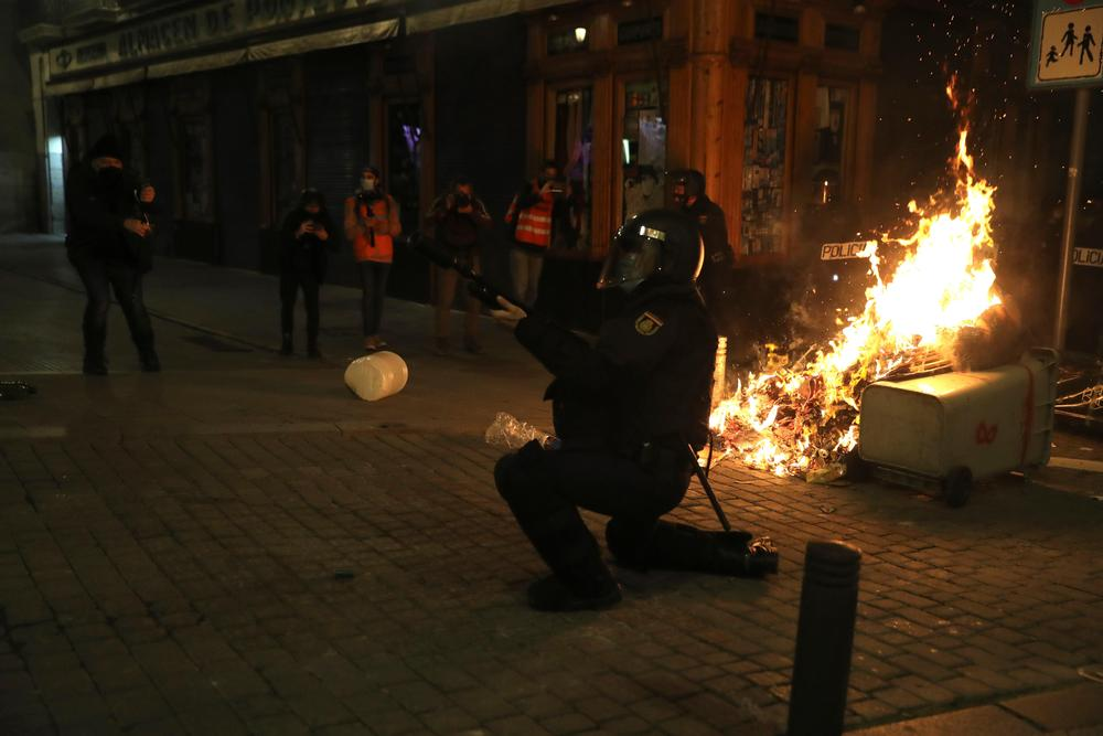 Manifestación en Madrid por la detención de Pablo Hasel