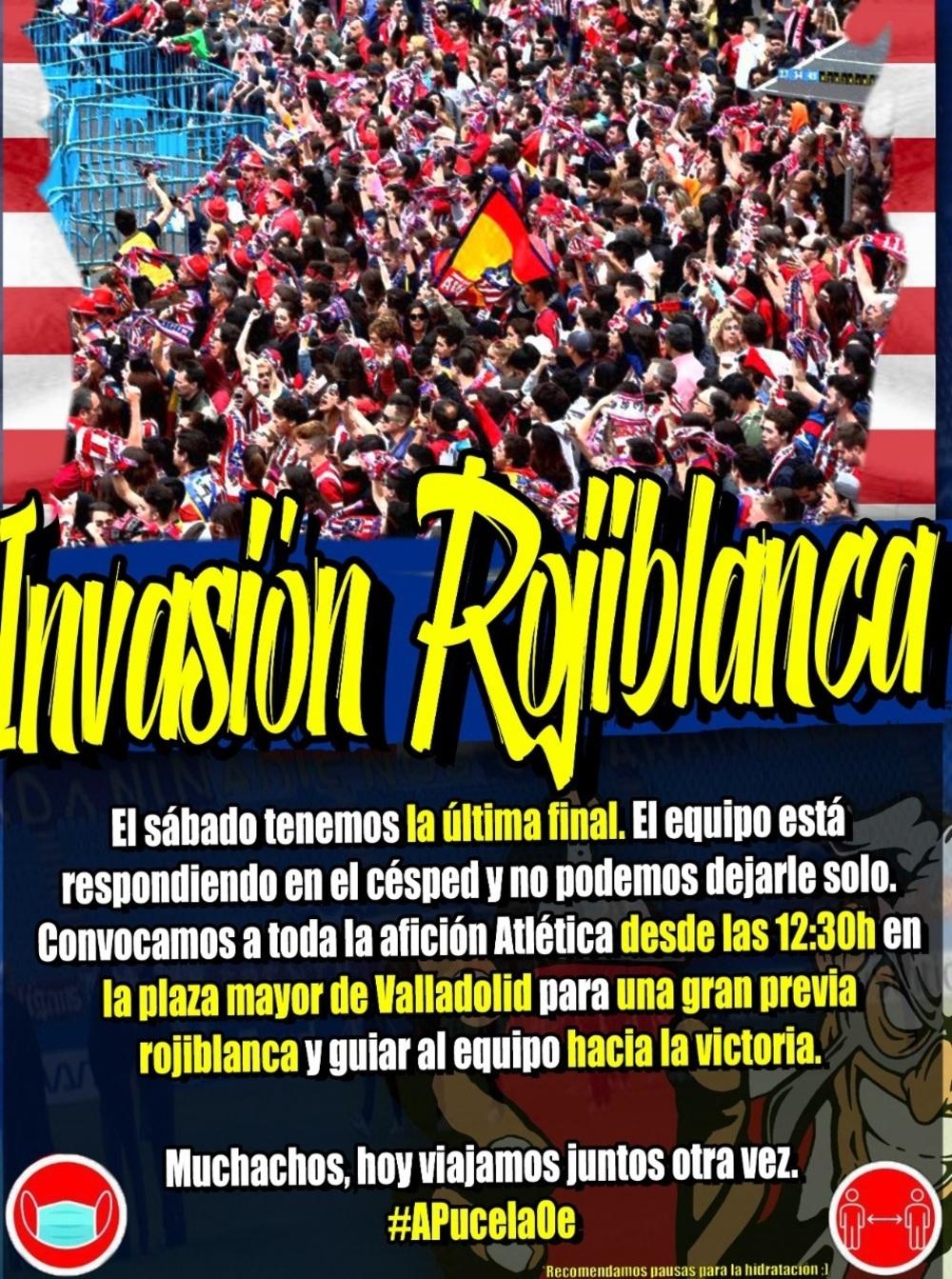 Cartel del Frente Atlético.