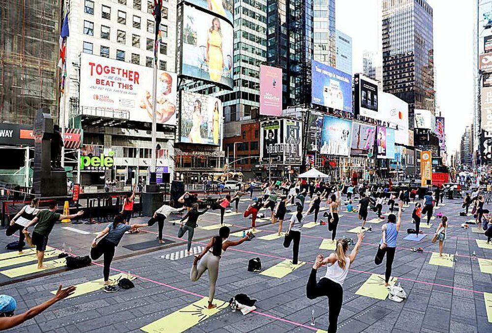 Times Square, en Nueva York, acogió un encuentro.