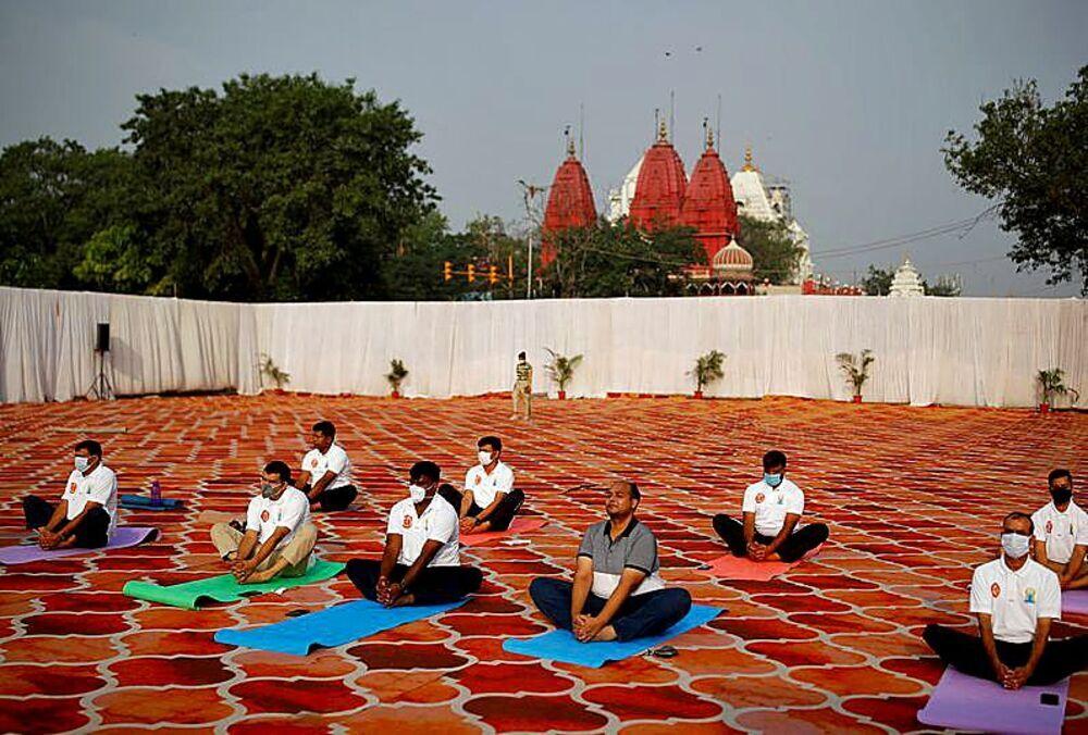 Sesión en los antiguos cuarteles de Nueva Delhi.