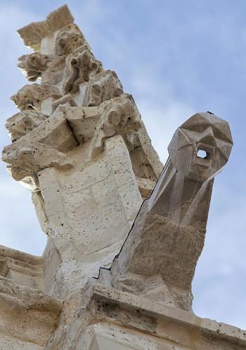 Una gárgola en la catedral que es un 'grito'