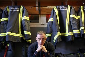 Francisco Pérez Rivas, bombero palentino.