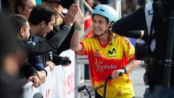 Teresa Fernández-Miranda acaricia el podio en el Europeo