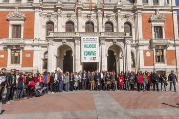 Acto institucional contra el racismo y la xenofobia el pasado mes de marzo en el Ayuntamiento de Valladolid.