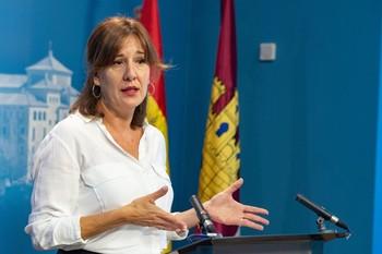 Blanca Fernández, portavoz y consejera de Igualdad del Gobierno de Castilla-La Mancha.