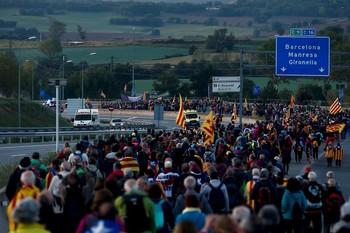 Ocho carreteras afectadas por las 'Marchas por la libertad'