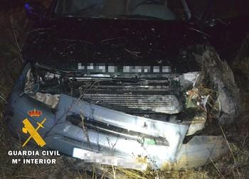 El vehículo sufrió graves desperfectos.