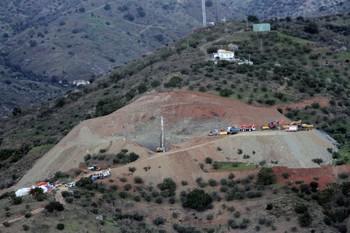 La perforación del túnel de Totalán llega a los 52 metros