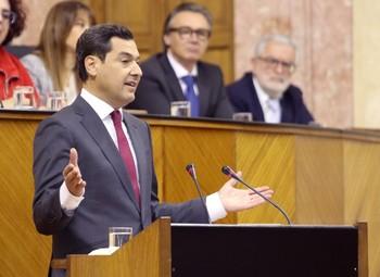 Moreno pide a Vox estabilidad para el Gobierno de Andalucía